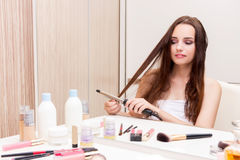 The young woman in beauty make-up concept Stock Image