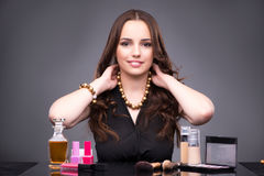 The young woman in beauty make-up concept Stock Photography