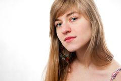 Young woman beauty portrait Royalty Free Stock Photos