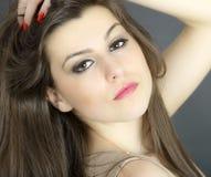 Young woman beauty portrait, studio shot Stock Photo