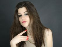 Young woman beauty portrait, studio shot Royalty Free Stock Photo