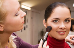 Young woman in the beauty salon Stock Photography
