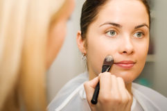 Young woman in the beauty salon Royalty Free Stock Images