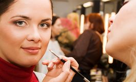 Young woman in the beauty salon Stock Photo