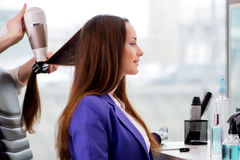 The young woman in beauty salon Royalty Free Stock Photo