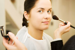 Young woman in the beauty salon (shallow DOF) Stock Photos