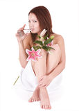 Young woman in beauty spa. Royalty Free Stock Photos