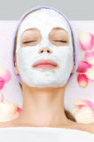 Young woman at beauty treatment stock images