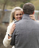 Young Woman From Behind Her Boyfriend Royalty Free Stock Photo