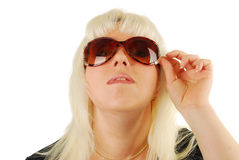 Young woman in big sunglasses Royalty Free Stock Photography