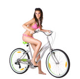 Young woman and bike Stock Photography