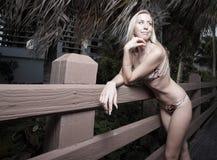 Young woman in a bikini Royalty Free Stock Photo