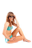 Young woman in bikini Royalty Free Stock Images