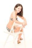 Young woman in bikini in studio Royalty Free Stock Photography