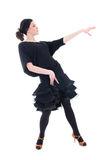 Young woman in black dancing Royalty Free Stock Image