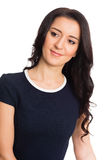 Young woman with black hair Royalty Free Stock Photo