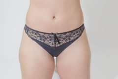 Young Woman with Black Lace Panties Royalty Free Stock Image
