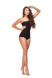 Young woman in black swimsuit Royalty Free Stock Photo