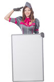 Young woman with blank board Stock Photography