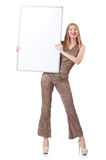 Young woman with blank board Stock Image