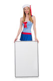 Young woman with blank board Stock Photos