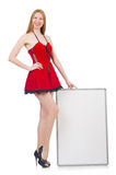 Young woman with blank board Royalty Free Stock Photos