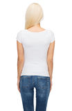 Young woman in blank white t-shirt Stock Photography