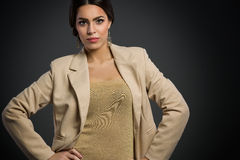 Young woman in blazer Royalty Free Stock Image
