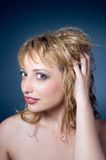 Young woman with blond hair Royalty Free Stock Photo