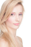 Young woman with blond hair Royalty Free Stock Photography