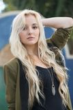 Young woman with blonde hair Stock Image