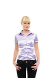 Young woman in casual wear Stock Photography