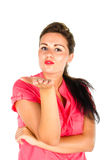 Young woman blowing kiss Stock Photography