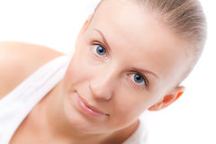 Young woman with blue eyes Royalty Free Stock Photo