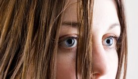 Young woman with blue eyes Royalty Free Stock Photos
