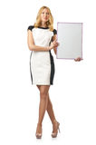 Young woman with  board Royalty Free Stock Photo