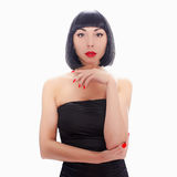 Young woman with bob haircut Royalty Free Stock Images