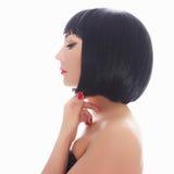Young woman bob haircut Royalty Free Stock Photography