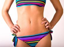 Young woman body in bright bikini Royalty Free Stock Photography