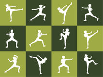 Young woman body combat and fitness Royalty Free Stock Photo