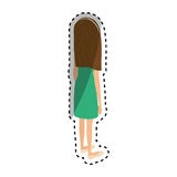 Young woman body complete Royalty Free Stock Photo