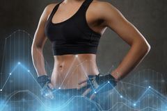 Young woman body in gym Stock Photos