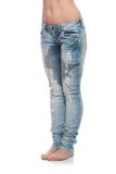 Young woman body in jeans Royalty Free Stock Image