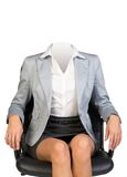 Young woman body sitting in chair Royalty Free Stock Image