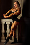 Young woman bodybuilder Stock Images