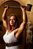 Young woman bodybuilder Royalty Free Stock Photography