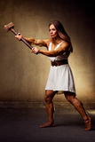 Young woman bodybuilder Royalty Free Stock Photo