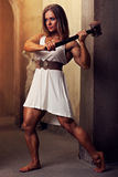 Young woman bodybuilder Royalty Free Stock Photos
