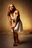 Young woman bodybuilder Royalty Free Stock Image