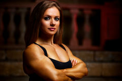 Young woman bodybuilder Stock Photos